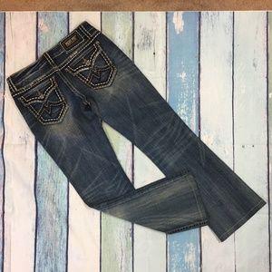 Miss Me Women's Irene Boot Cut Denim Jeans 29